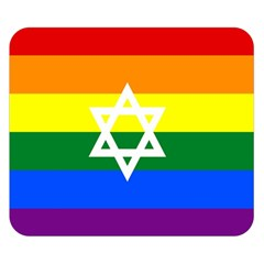 Gay Pride Israel Flag Double Sided Flano Blanket (small)