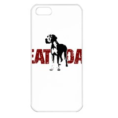 Great Dane Apple Iphone 5 Seamless Case (white)