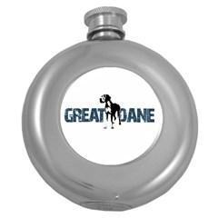 Great Dane Round Hip Flask (5 Oz)