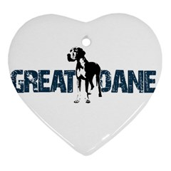 Great Dane Heart Ornament (two Sides)