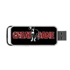 Great Dane Portable Usb Flash (one Side)