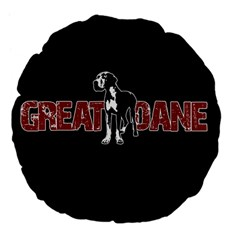 Great Dane Large 18  Premium Flano Round Cushions