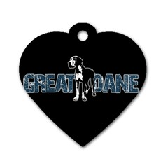 Great Dane Dog Tag Heart (two Sides)