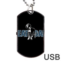 Great Dane Dog Tag Usb Flash (two Sides)