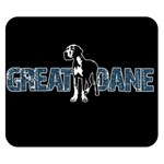 Great Dane Double Sided Flano Blanket (Small)  50 x40 Blanket Back