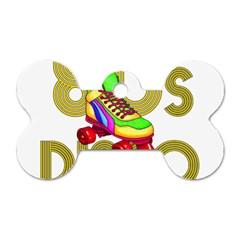 Roller Skater 80s Dog Tag Bone (one Side)