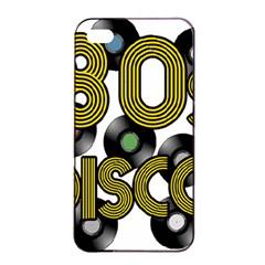 80s Disco Vinyl Records Apple Iphone 4/4s Seamless Case (black)