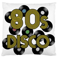80s Disco Vinyl Records Standard Flano Cushion Case (one Side)