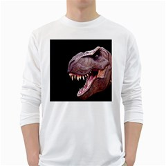 Dinosaurs T Rex White Long Sleeve T Shirts