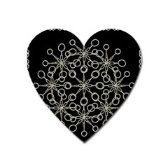 Ornate Chained Atrwork Heart Magnet