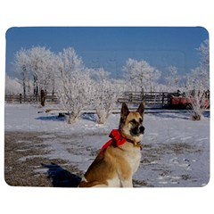 Akita In Snow Jigsaw Puzzle Photo Stand (rectangular)