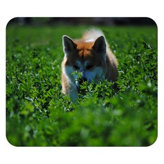 Akita In Field Double Sided Flano Blanket (small)