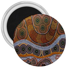 Aboriginal Traditional Pattern 3  Magnets