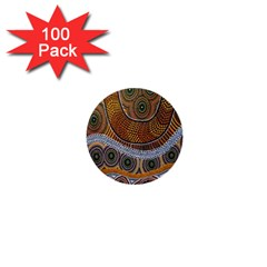 Aboriginal Traditional Pattern 1  Mini Buttons (100 Pack)