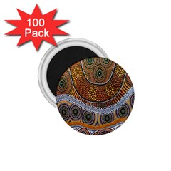 Aboriginal Traditional Pattern 1 75  Magnets (100 Pack)