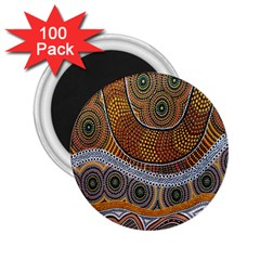 Aboriginal Traditional Pattern 2 25  Magnets (100 Pack)