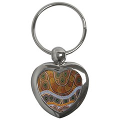 Aboriginal Traditional Pattern Key Chains (heart)