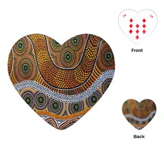 Aboriginal Traditional Pattern Playing Cards (heart)