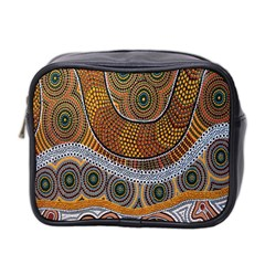 Aboriginal Traditional Pattern Mini Toiletries Bag 2 Side