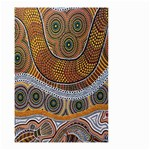 Aboriginal Traditional Pattern Small Garden Flag (Two Sides) Front
