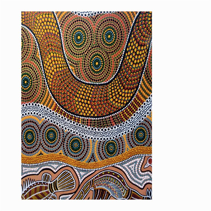Aboriginal Traditional Pattern Small Garden Flag (Two Sides)