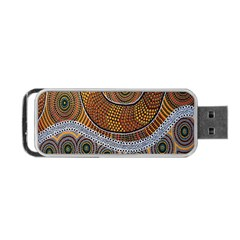 Aboriginal Traditional Pattern Portable Usb Flash (one Side)