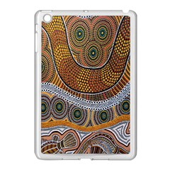 Aboriginal Traditional Pattern Apple Ipad Mini Case (white)