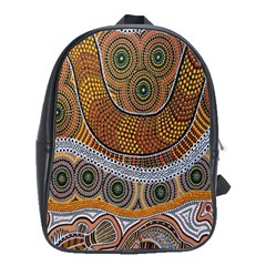 Aboriginal Traditional Pattern School Bags (xl)