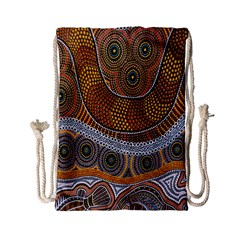 Aboriginal Traditional Pattern Drawstring Bag (small)