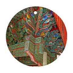 Traditional Korean Painted Paterns Ornament (round)
