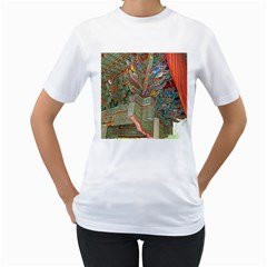 Traditional Korean Painted Paterns Women s T Shirt (white) (two Sided)