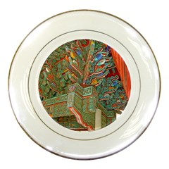 Traditional Korean Painted Paterns Porcelain Plates
