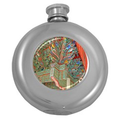 Traditional Korean Painted Paterns Round Hip Flask (5 Oz)