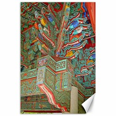 Traditional Korean Painted Paterns Canvas 24  X 36