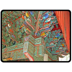 Traditional Korean Painted Paterns Fleece Blanket (large)