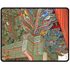 Traditional Korean Painted Paterns Double Sided Fleece Blanket (medium)