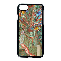 Traditional Korean Painted Paterns Apple Iphone 7 Seamless Case (black)
