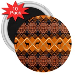 Traditiona  Patterns And African Patterns 3  Magnets (10 Pack)