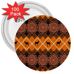 Traditiona  Patterns And African Patterns 3  Buttons (100 Pack)