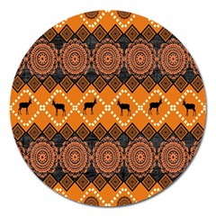 Traditiona  Patterns And African Patterns Magnet 5  (round)