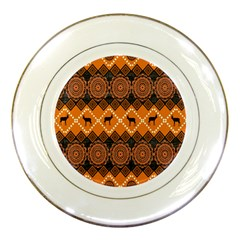 Traditiona  Patterns And African Patterns Porcelain Plates