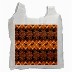 Traditiona  Patterns And African Patterns Recycle Bag (one Side)