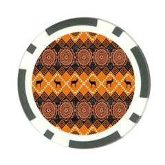 Traditiona  Patterns And African Patterns Poker Chip Card Guard (10 Pack)