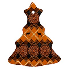 Traditiona  Patterns And African Patterns Christmas Tree Ornament (two Sides)