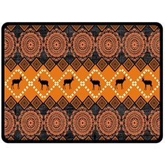 Traditiona  Patterns And African Patterns Double Sided Fleece Blanket (large)