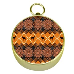 Traditiona  Patterns And African Patterns Gold Compasses