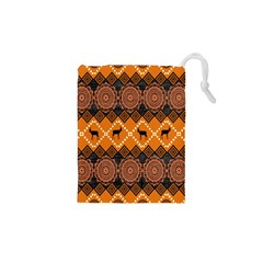 Traditiona  Patterns And African Patterns Drawstring Pouches (xs)