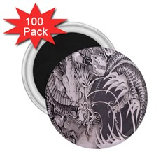 Chinese Dragon Tattoo 2 25  Magnets (100 Pack)