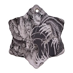 Chinese Dragon Tattoo Snowflake Ornament (two Sides)