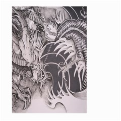 Chinese Dragon Tattoo Large Garden Flag (two Sides)